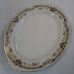 Homer Laughlin Platter Eggshell Nautilus Floral